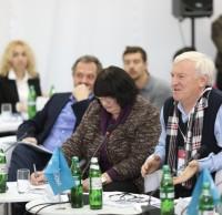 Андрей Пашенько, Ольга Сокол, Юрий Серегин, члены жюри. Полуфинал STEEL FREEDOM 2014