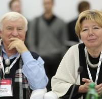 Юрий Серегин, Елена Олейник, члены жюри. Полуфинал STEEL FREEDOM 2014