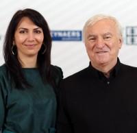 STEEL DINNER 2014. Виктория Лымарь, координатор конкурса, Юрий Серегин, член жюри